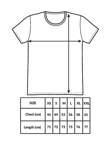 sublimation tshirt size guide