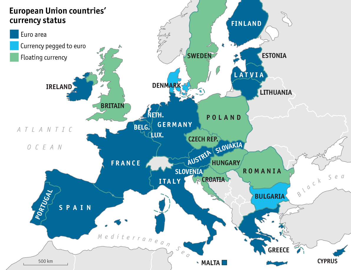 eurozone eu map