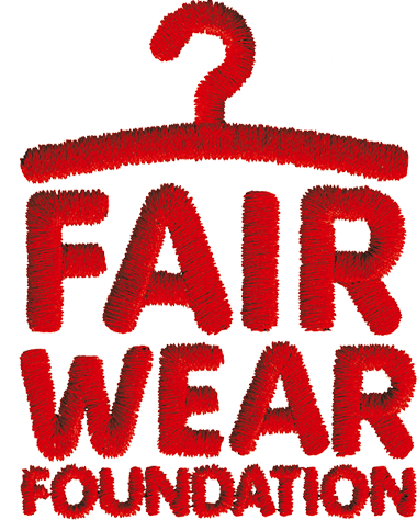 Copy of fair wear foundation logo red embroidery
