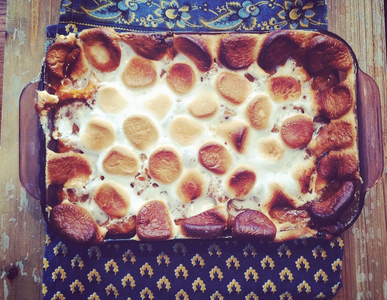 Exhibit A: sweet potato casserole > quinoa/barley/grain/gluten free artisanally glazed bowl.