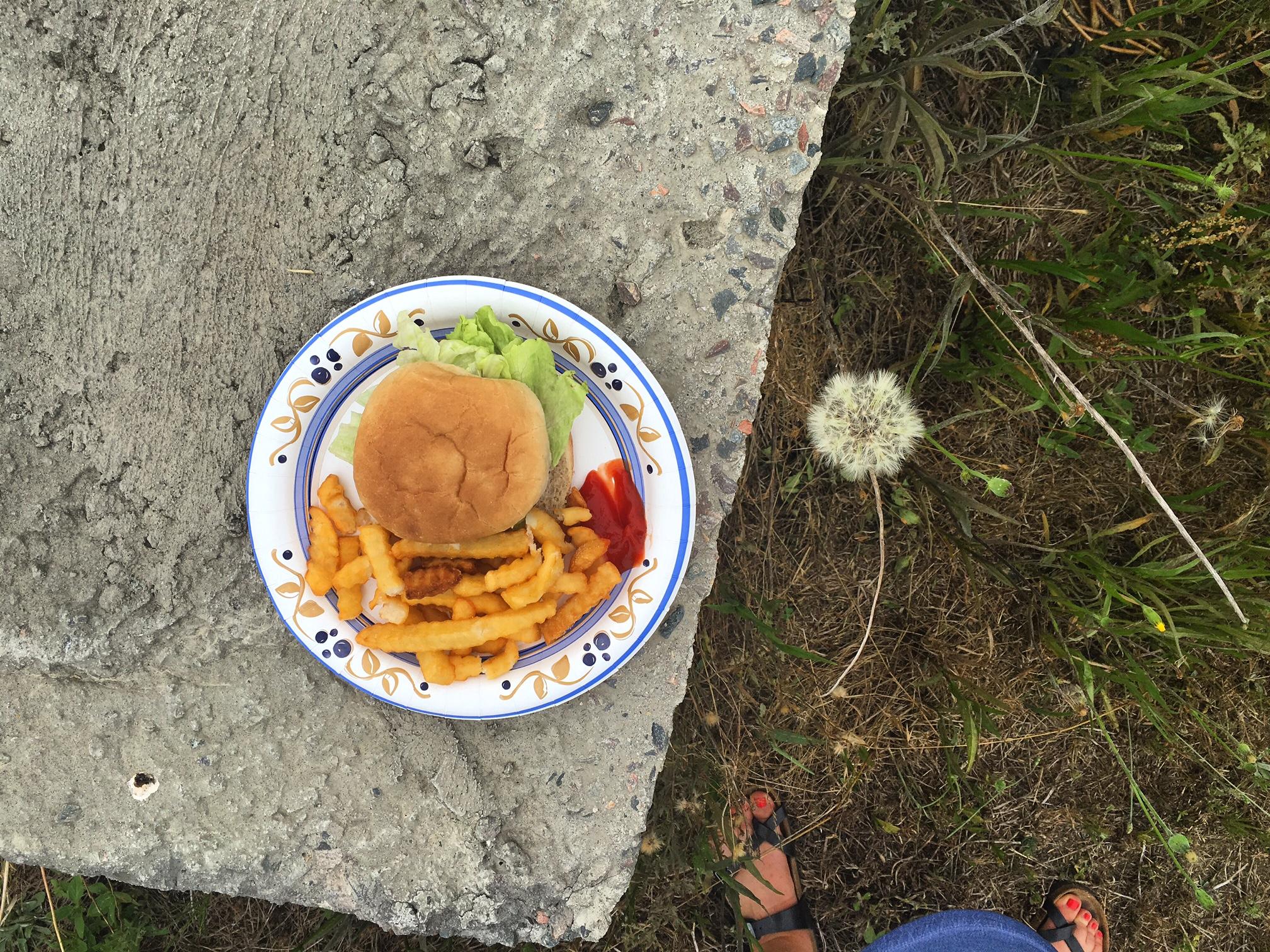 Burgers + Birkenstocks. Summer, finally.