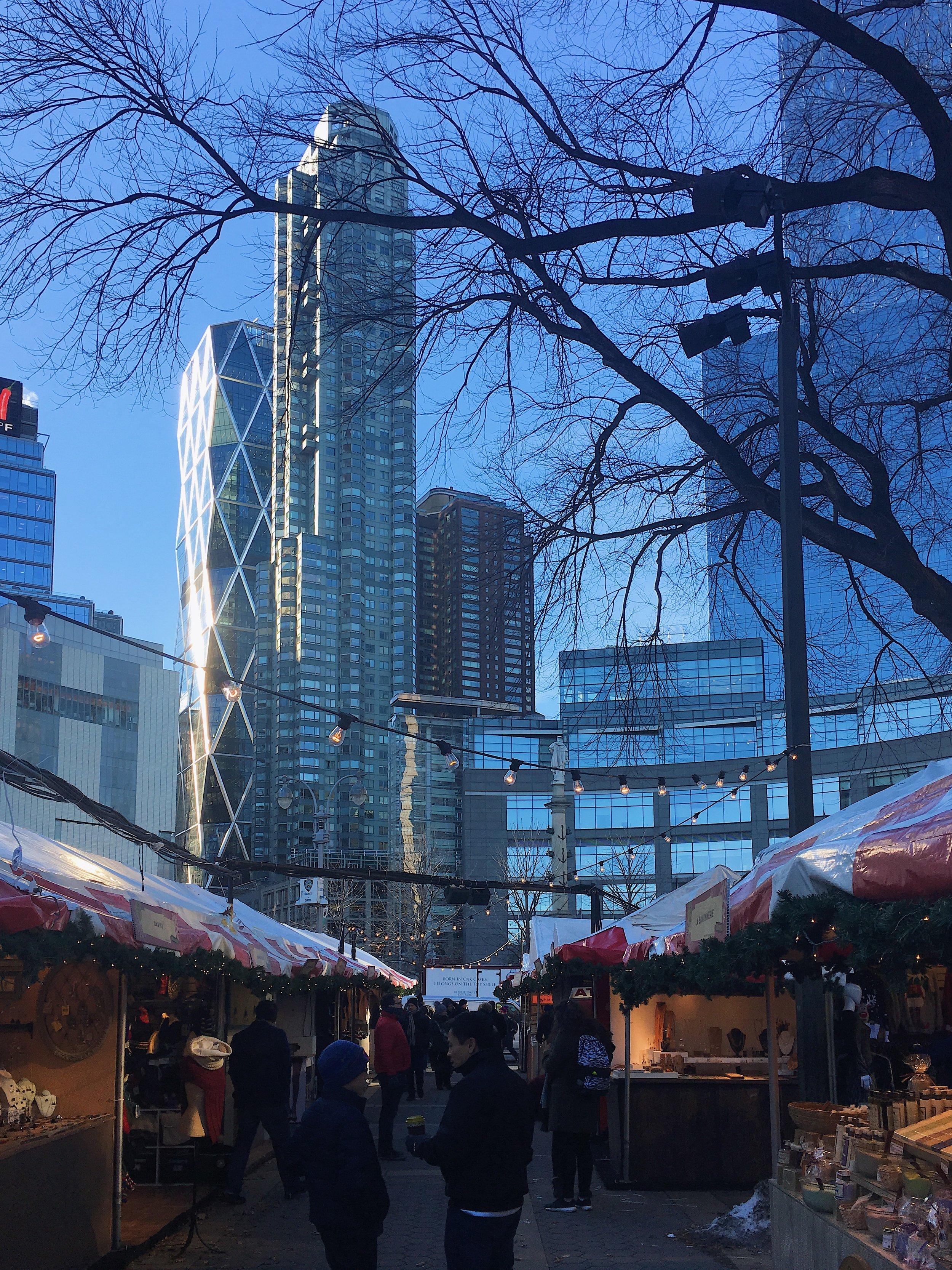 Columbus Circle holiday market.