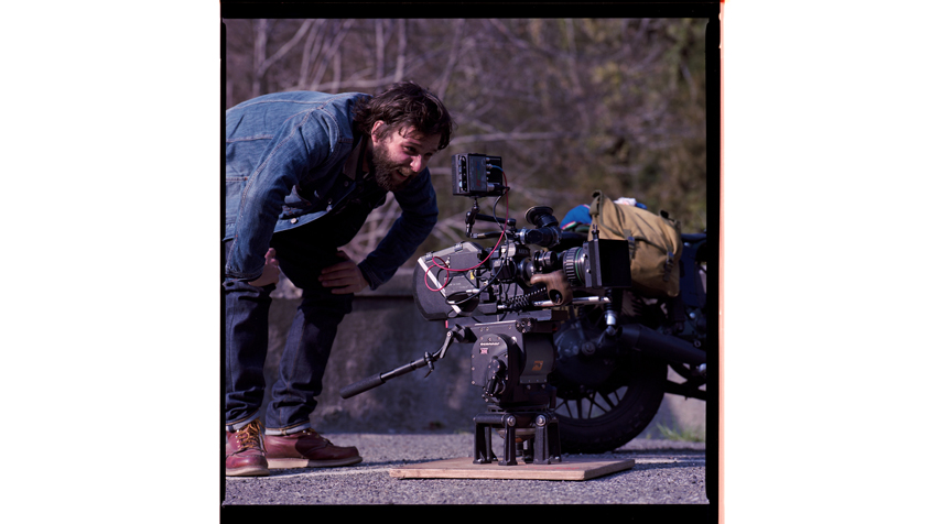 Clément Beauvais, the director. Ready to shoot.