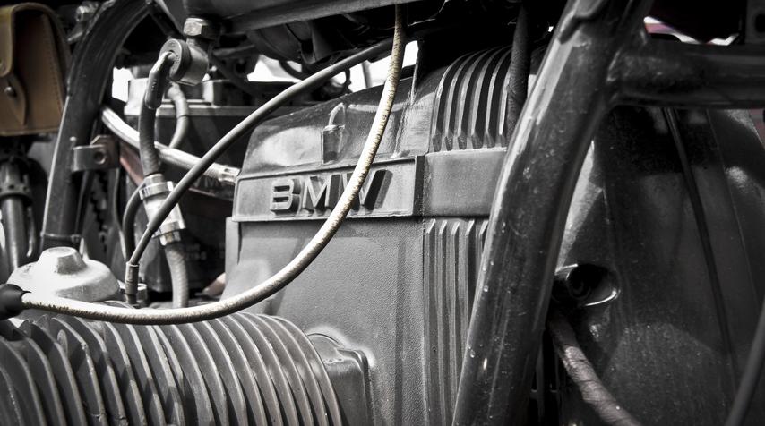 Hugo's R80/7 Solo Seat's engine.