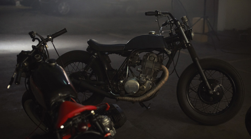 """The SR """"Bobber"""" and the """"Blitz Sin""""... waiting for their rider..."""