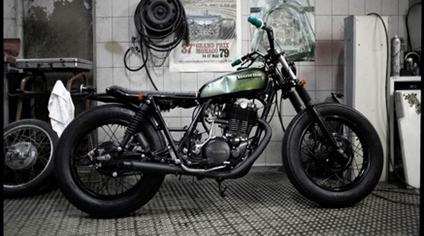 Inspired by 1950's 'bobber style'.