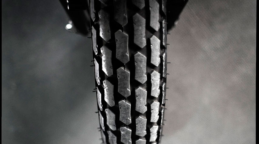 Dunlop K180 front and rear tires.