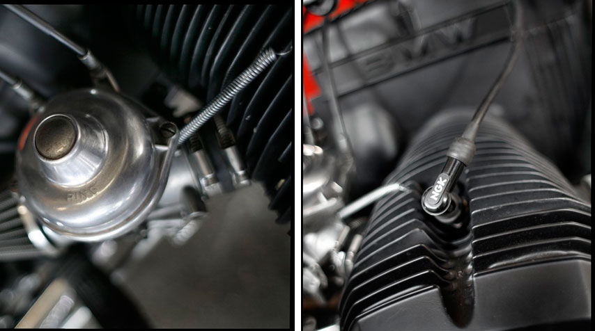 - High temperature matt black painting of engine and gear box. - Reconditionned Bing carburators.