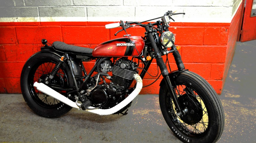 """On a Yamaha 500 SR 48T basis, here is what we imagined could be the perfect illustrationof the """"fifties spirit""""."""