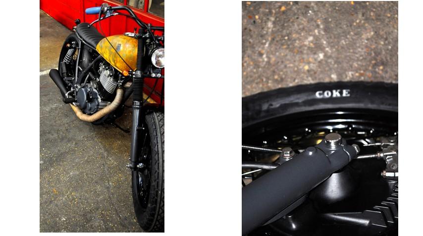 """Both front and rear """"Coker Diamond"""" tyres.We just forgot to paint the """"R"""" in white... We can be funny sometimes."""