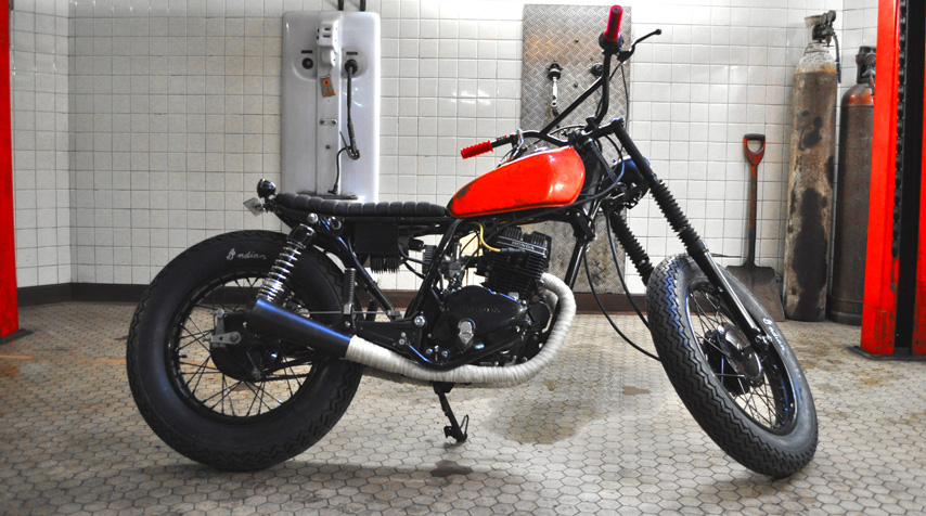 The whole bike has been worked out and modified: - handcrafted subframe; - handcrafted electricity box welded to the frame;