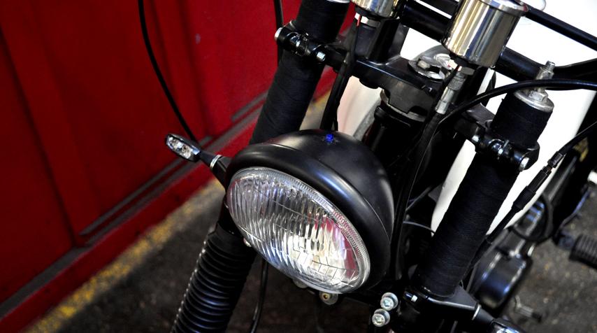 Bates headlight and mini-led blinkers.
