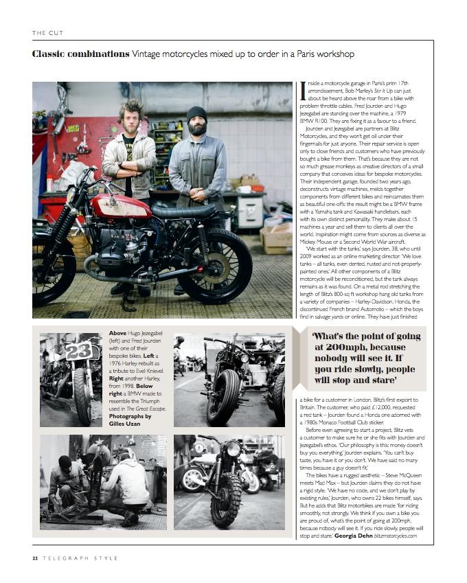 Daily Telegraph September 2012