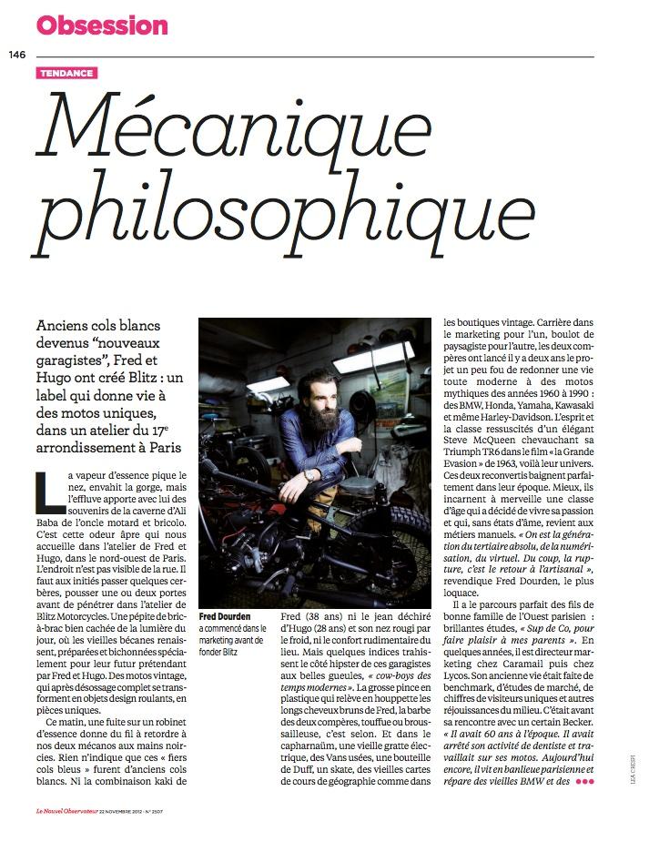 Nouvel Observateur November 2012