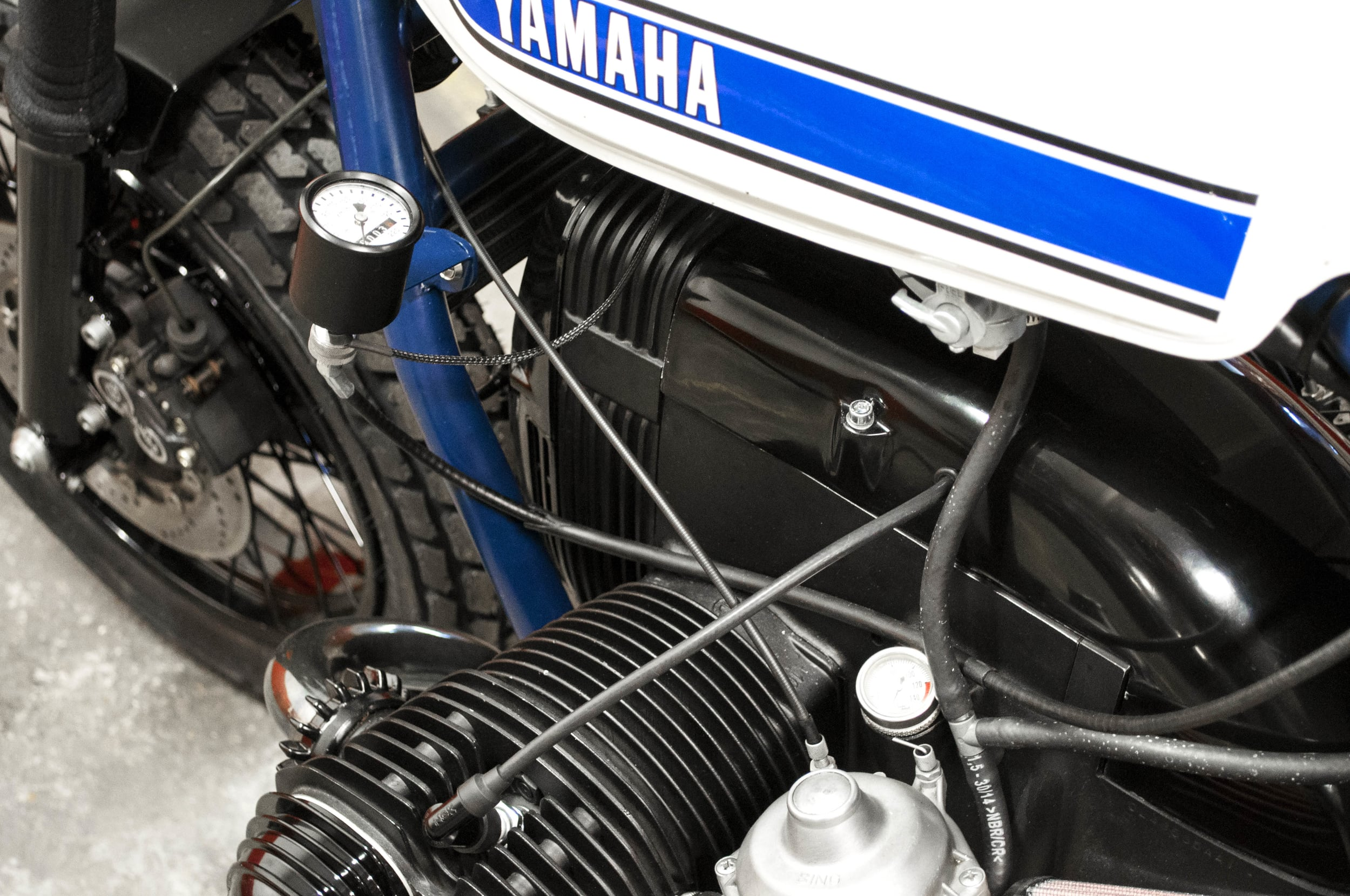 - fully rebuilt top end engine (pistons, rings, valves);  - brand new TCI - AC/CDI ignition system;  - tiny speedometer mounted of the left end side of the frame.