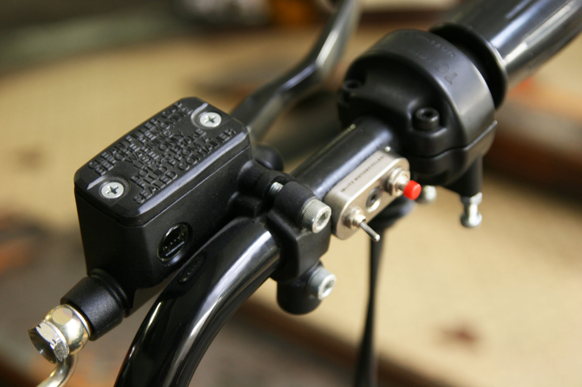 - fully rebuilt electric wiring;  -   Blitz Motorcycles   mini switches connected to the electric wiring.