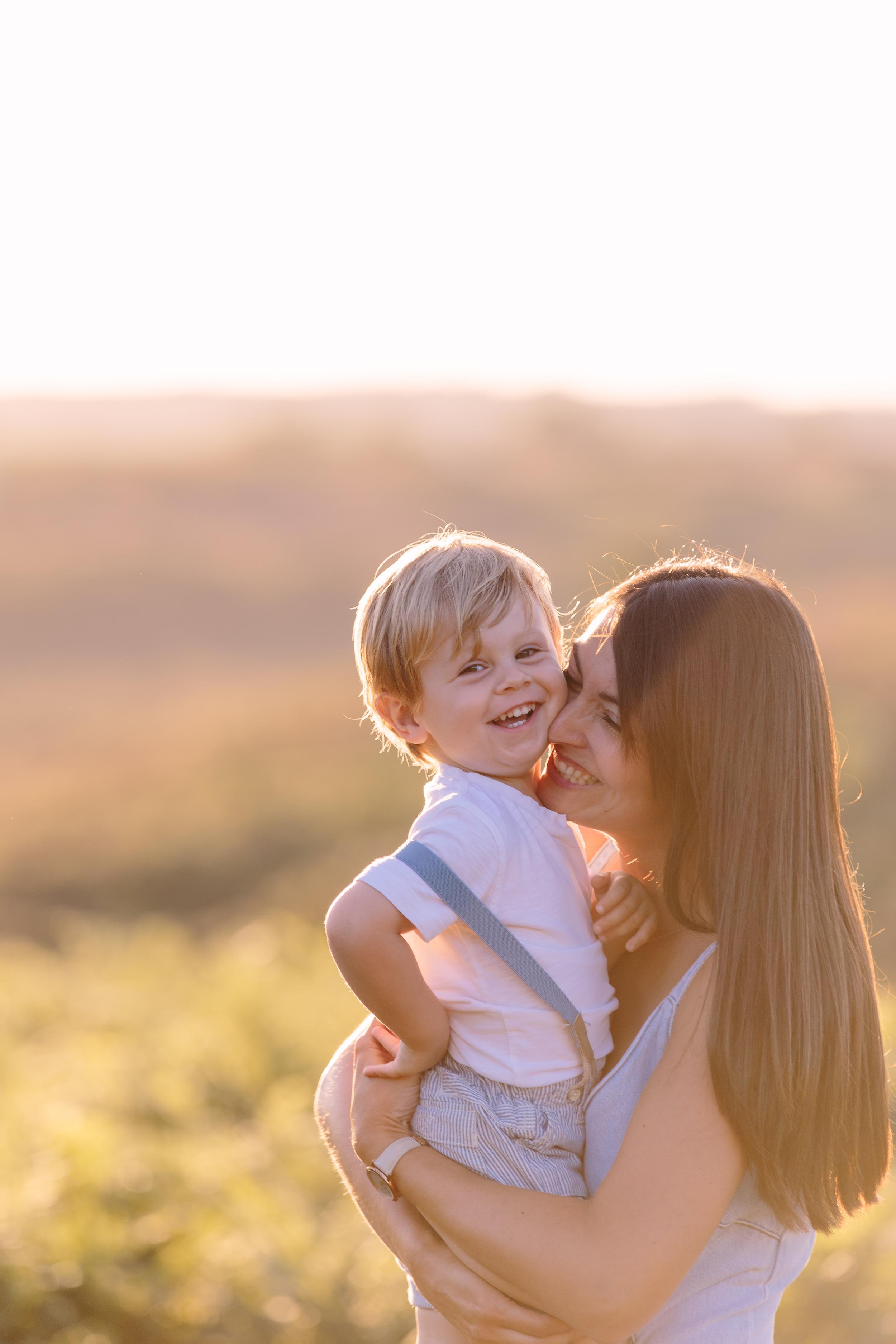 sunset family shoot