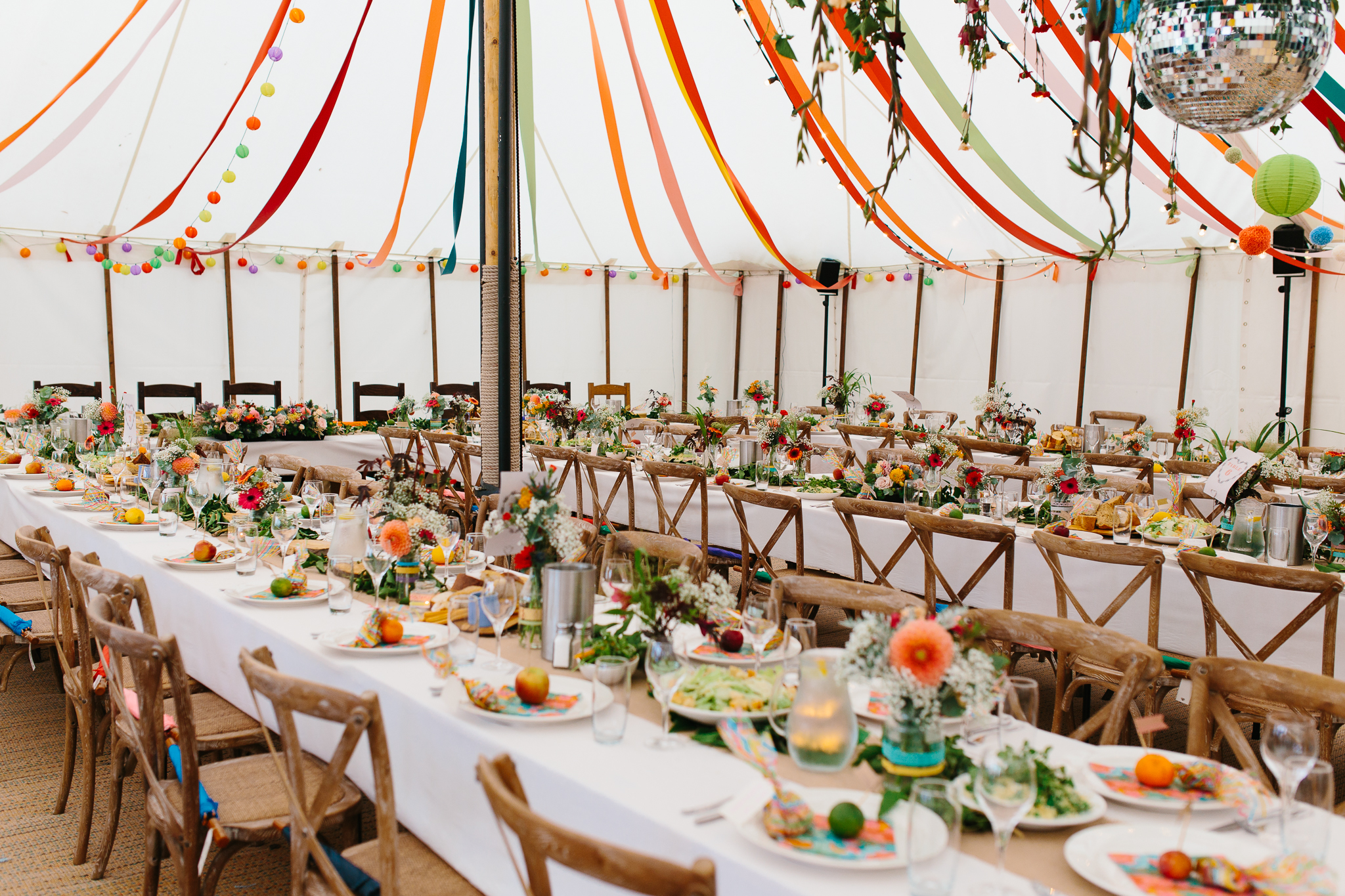 colourful marquee