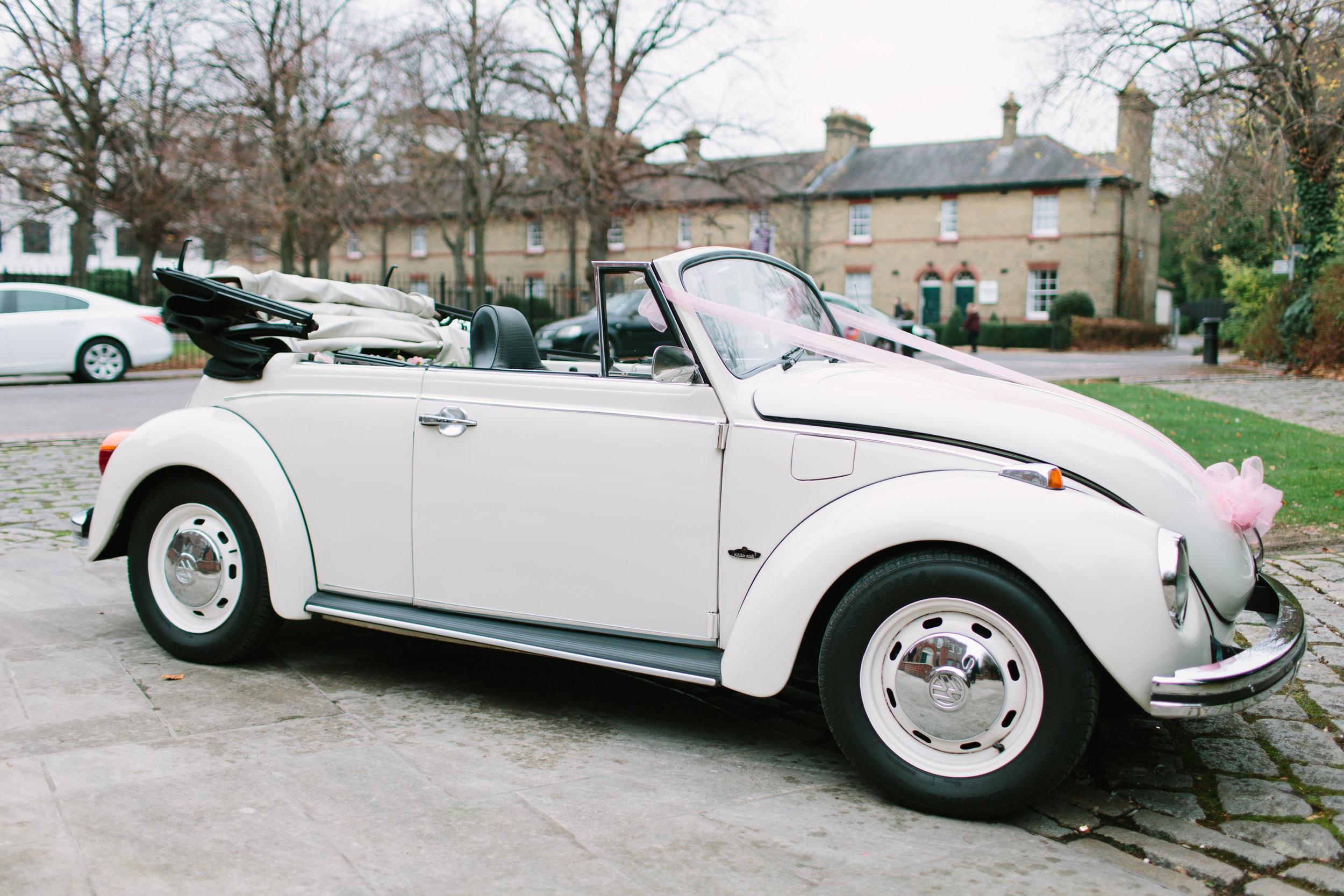 VW wedding car