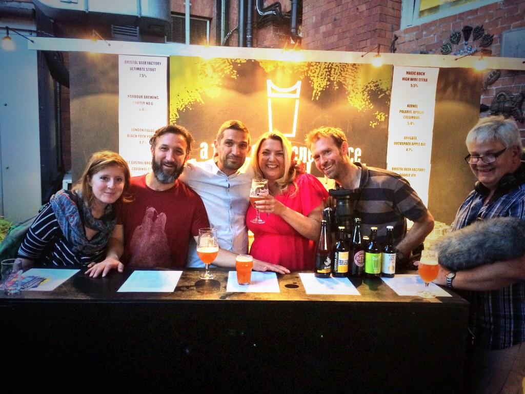 Filming @  Bristol Beer Week  w/the wonderful  Melissa Cole