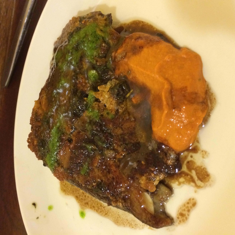 Borda Berri's crispy pig ear with tximitxurri sauce