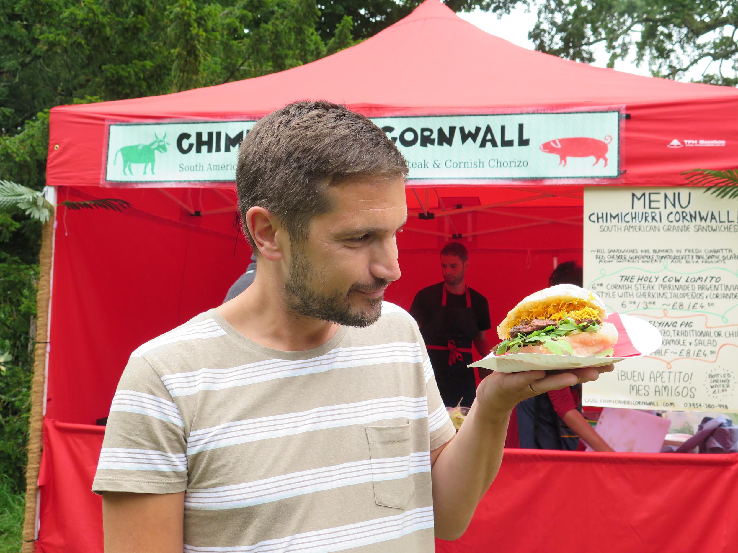 Steak Sandwich from Chimichurri Cornwall