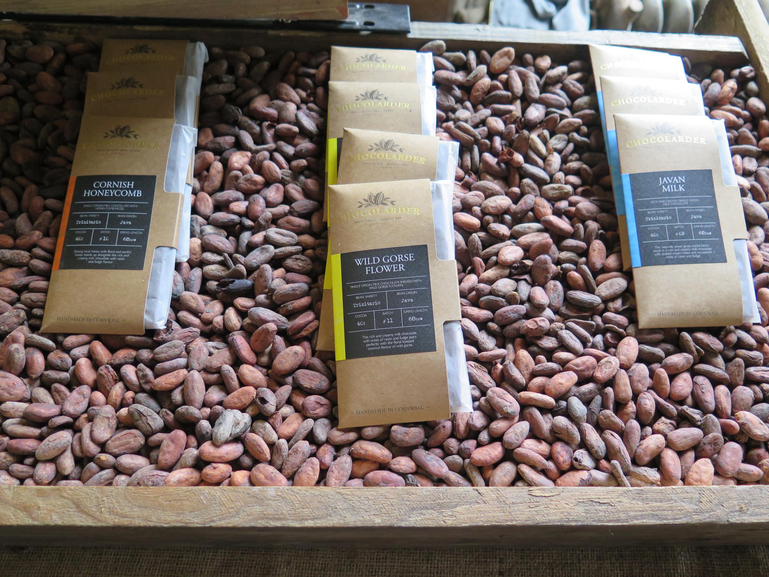 Chocolarder's amazing chocolate selection