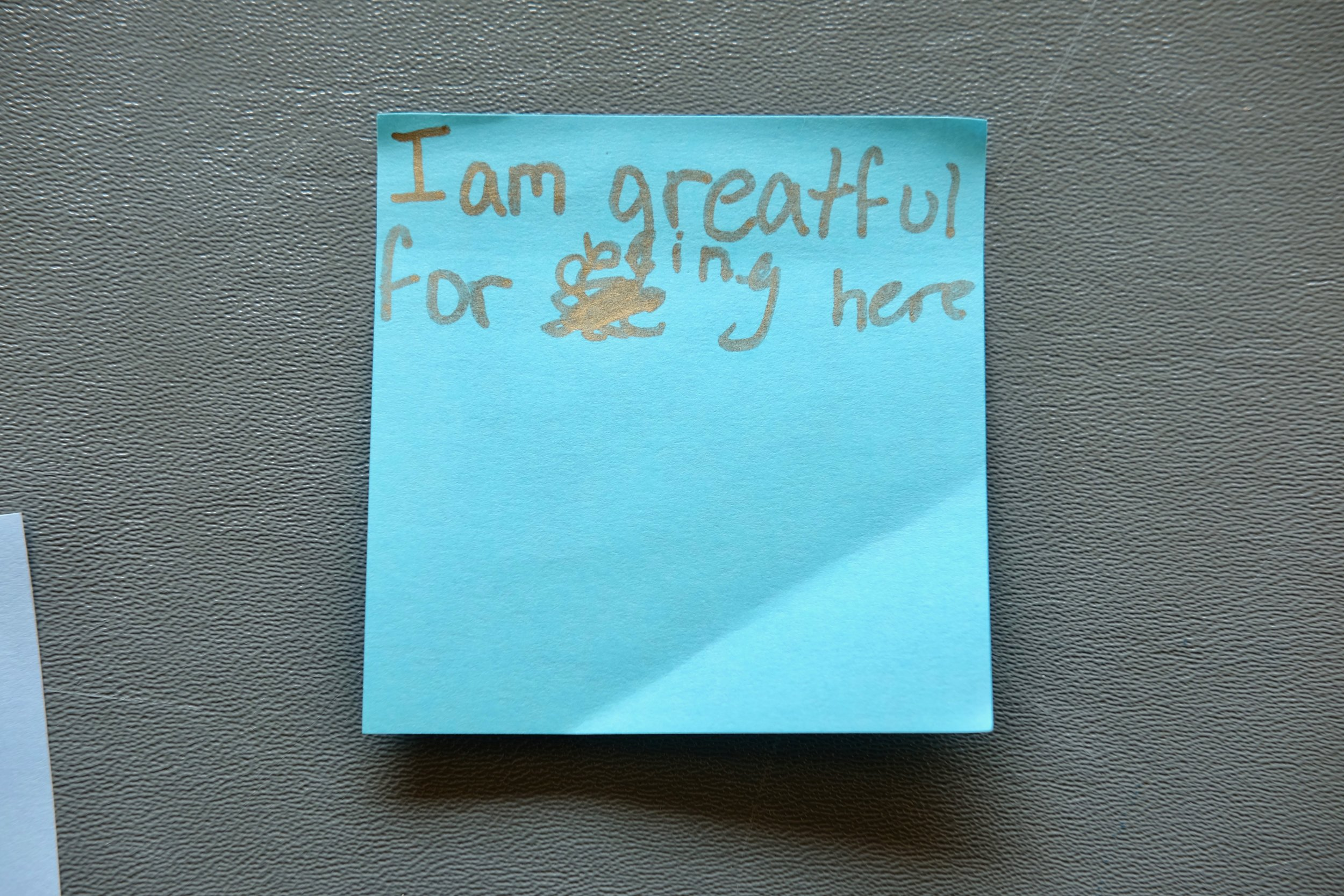 A post-it note left by a member of the public. I couldn't have said it better myself.