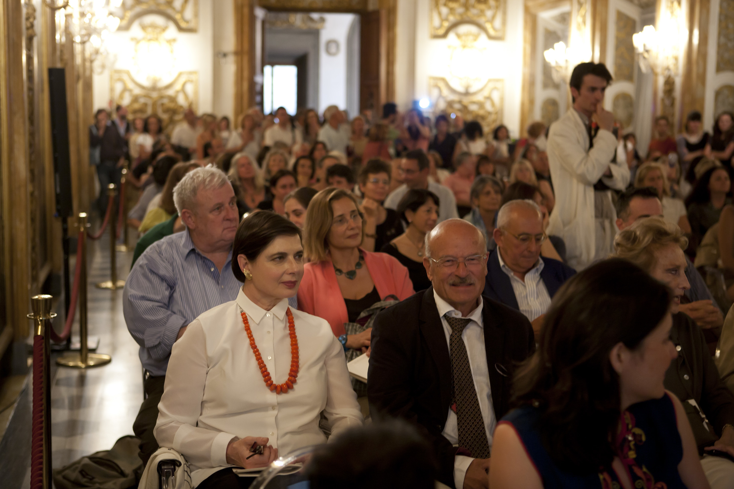 Isabella Rossellini and Volker Schlondorff at the Lectio Magistralis