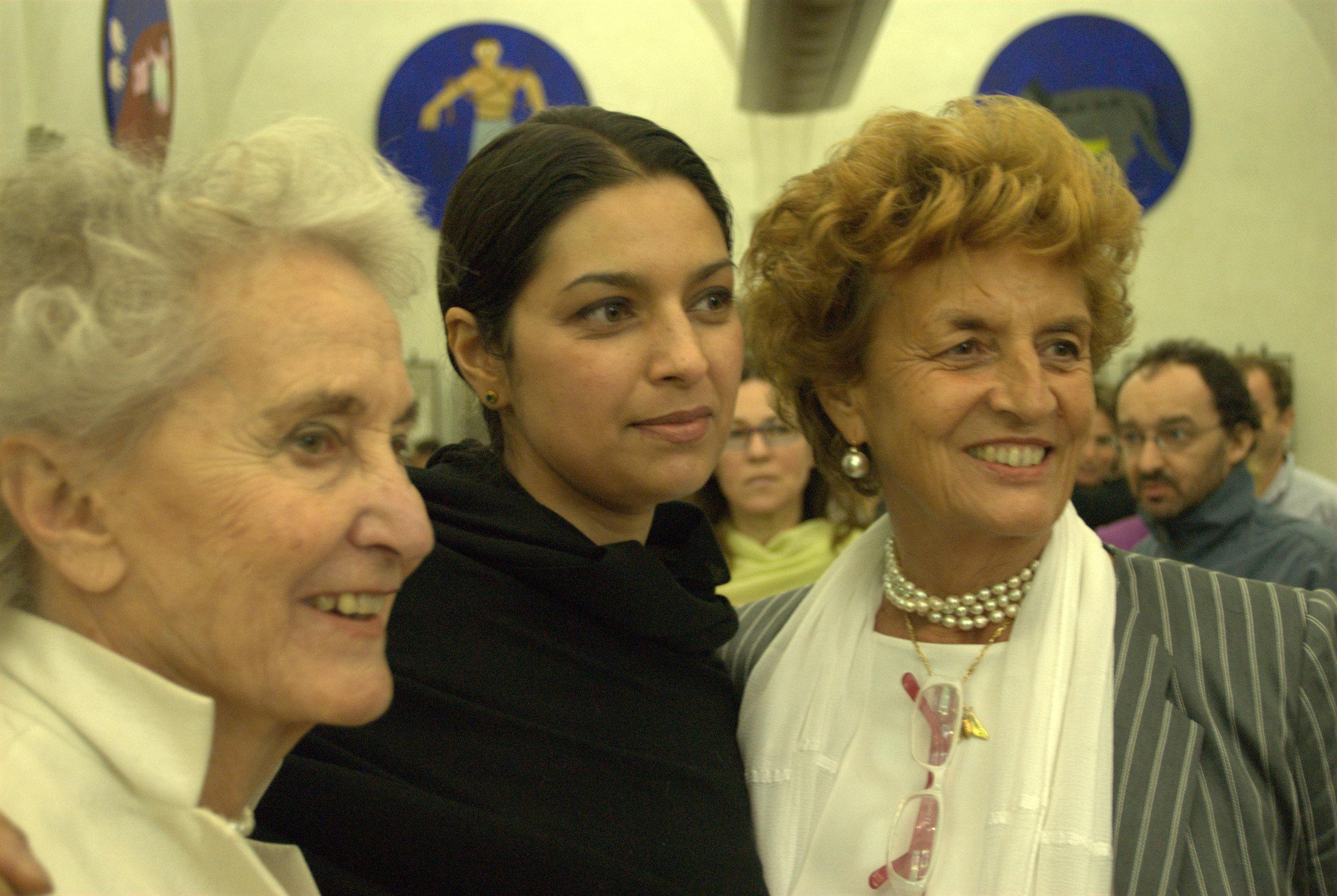 Beatrice Monti, Jhumpa Lahiri, and Giovanna Folonari