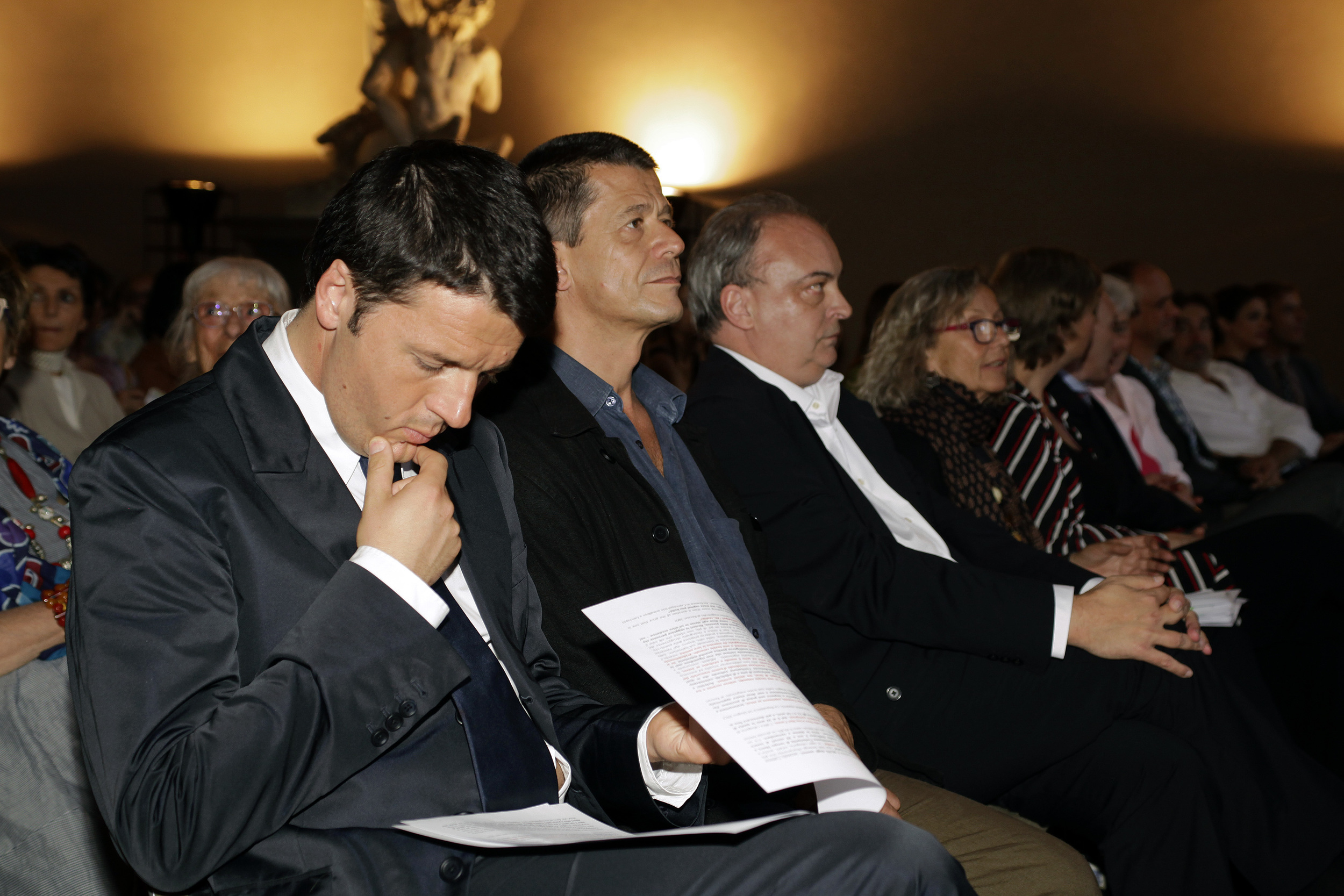 Matteo Renzi alla cerimonia di premiazione