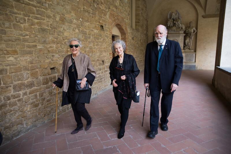 Beatrice von Rezzori, Margaret Atwood, Greame Gibson_Festival degli Scrittori_premio gregor von rezzori 2018.jpg