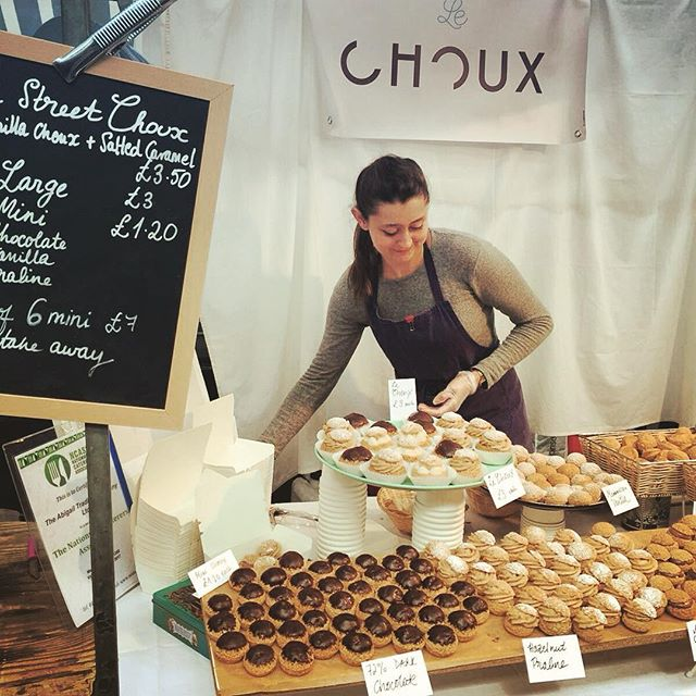 @lechoux_ldn a couple of weeks ago. Can't believe we started this 6 weeks ago! Step two is to start offering our choux in cafes and restaurants. If you know anyone in London who may be interested in having choux in their cafe or restaurant let me know!