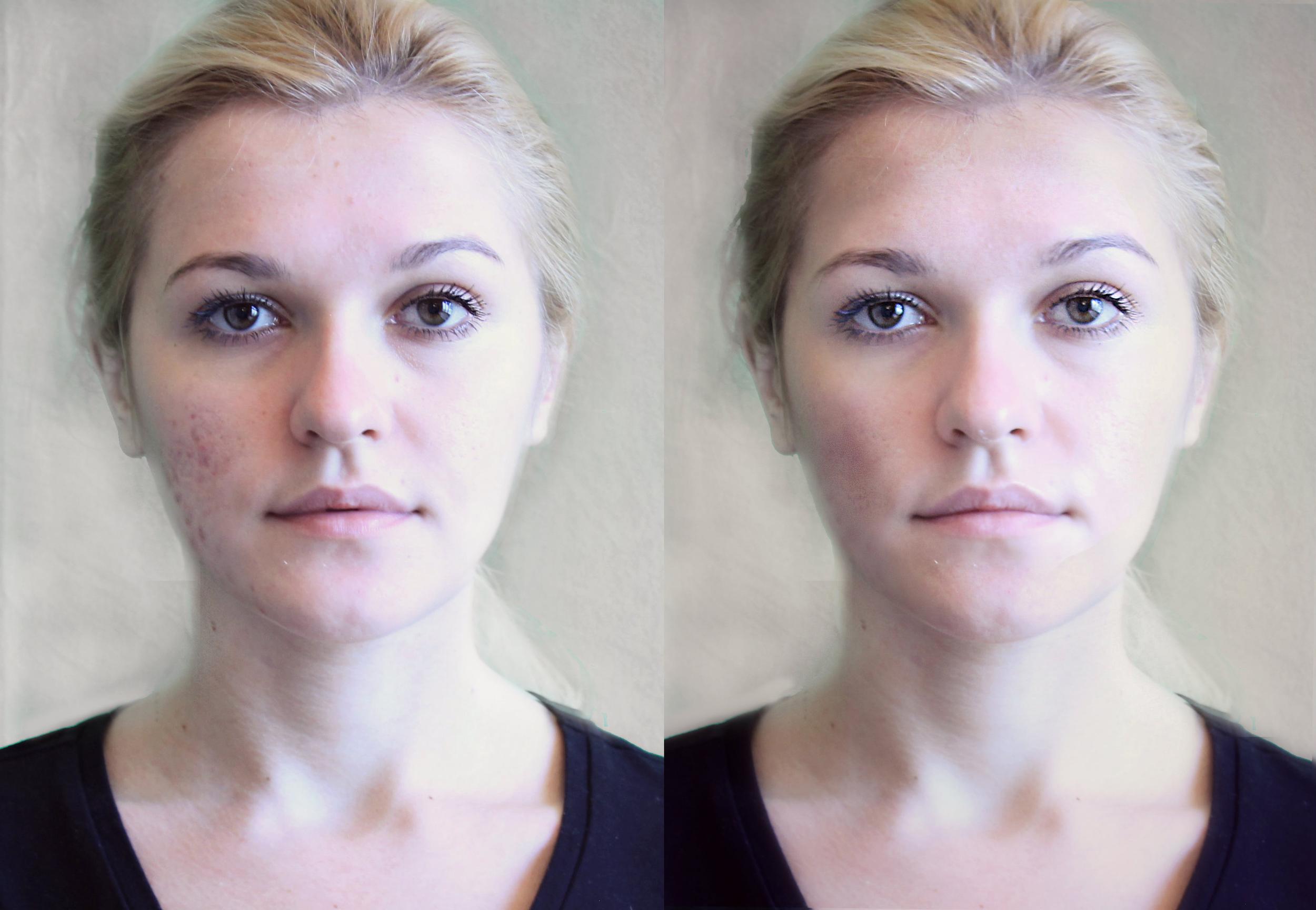 Photo retouching simulates productresults