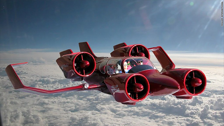 Photo:  Skycar 400   by Moller International    Based on the M400X prototype the Skycar 400 is a powered-lift VTOL aircraft with a projected top speed of over 350 mph and a range of ~800 miles.