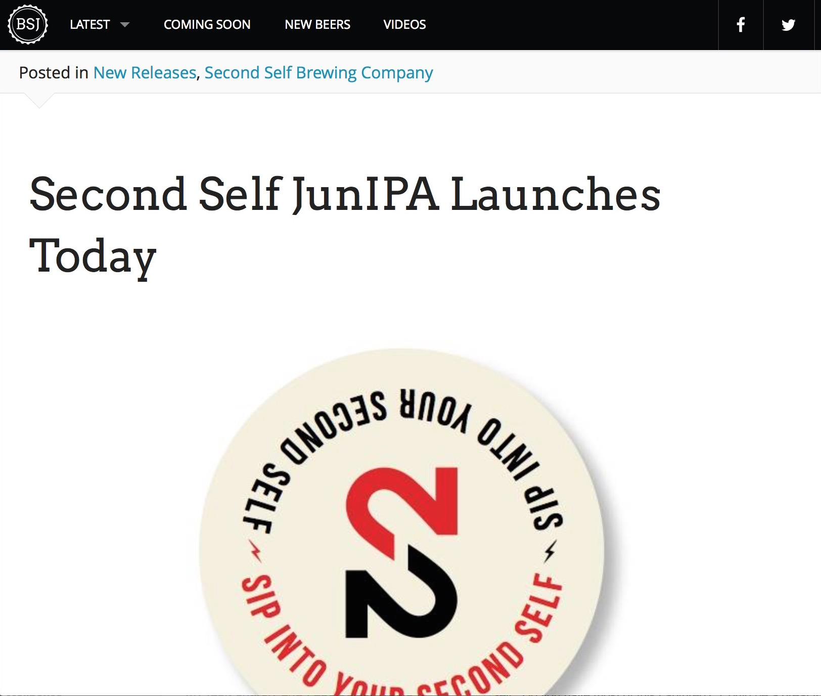 BeerStreetJournal,  Second Self Launches JunIPA , January 20th, 2015