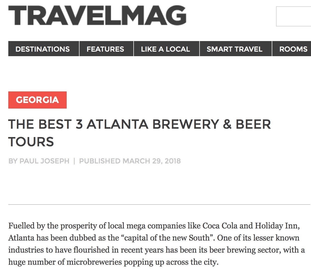 TravelMag -  Best Atlanta Brewery Tours
