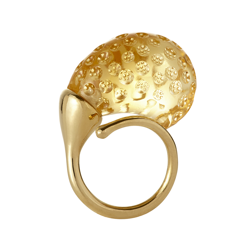 Gurmit Campbell's Rosebud Ring in 18 carat gold and Citrine
