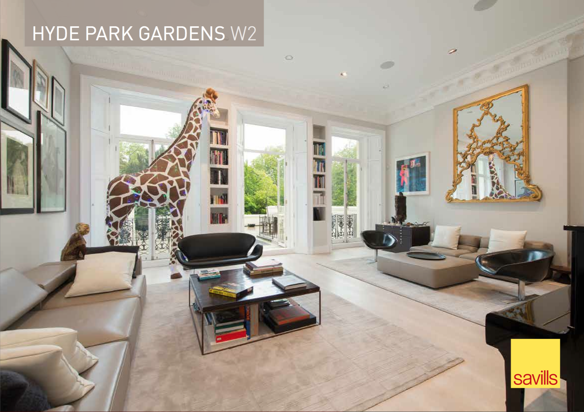A 4.3 meters high ceiling is the best loved room ofMatilda the family's pet giraffe.