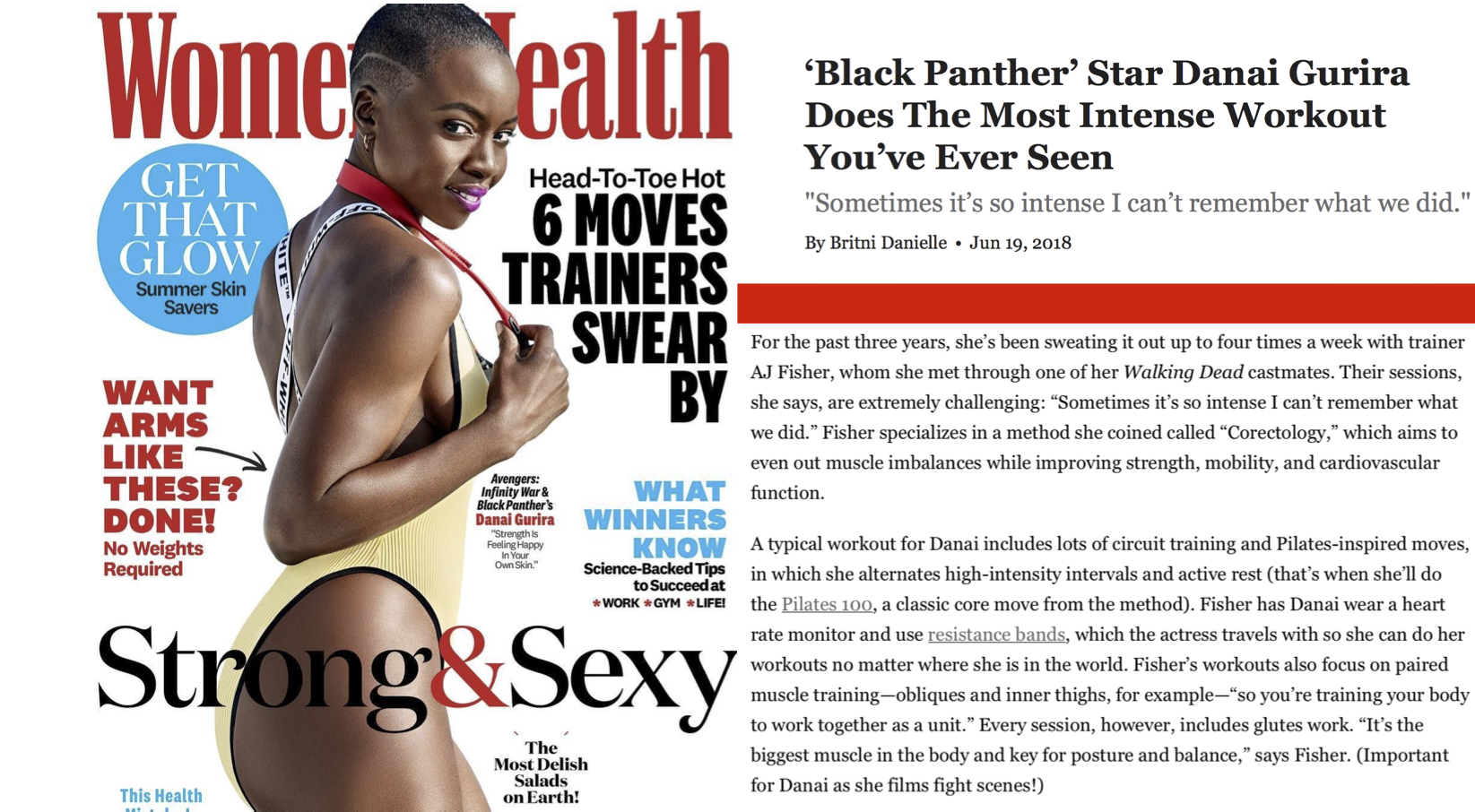 """Also see """"'Black Panther' Star Danai Gurira's Trainer Swears By These 5 Moves"""" HERE"""