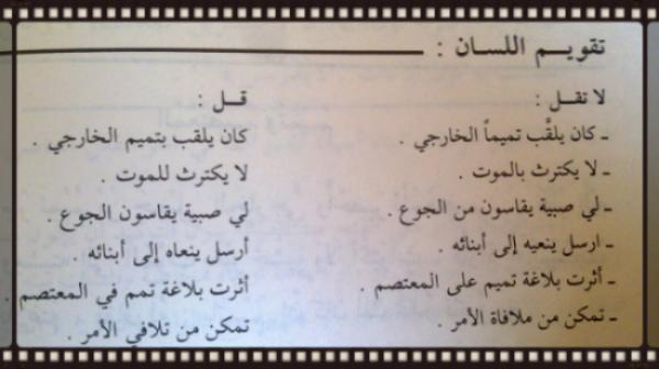 تقويم اللسان (8).  ا