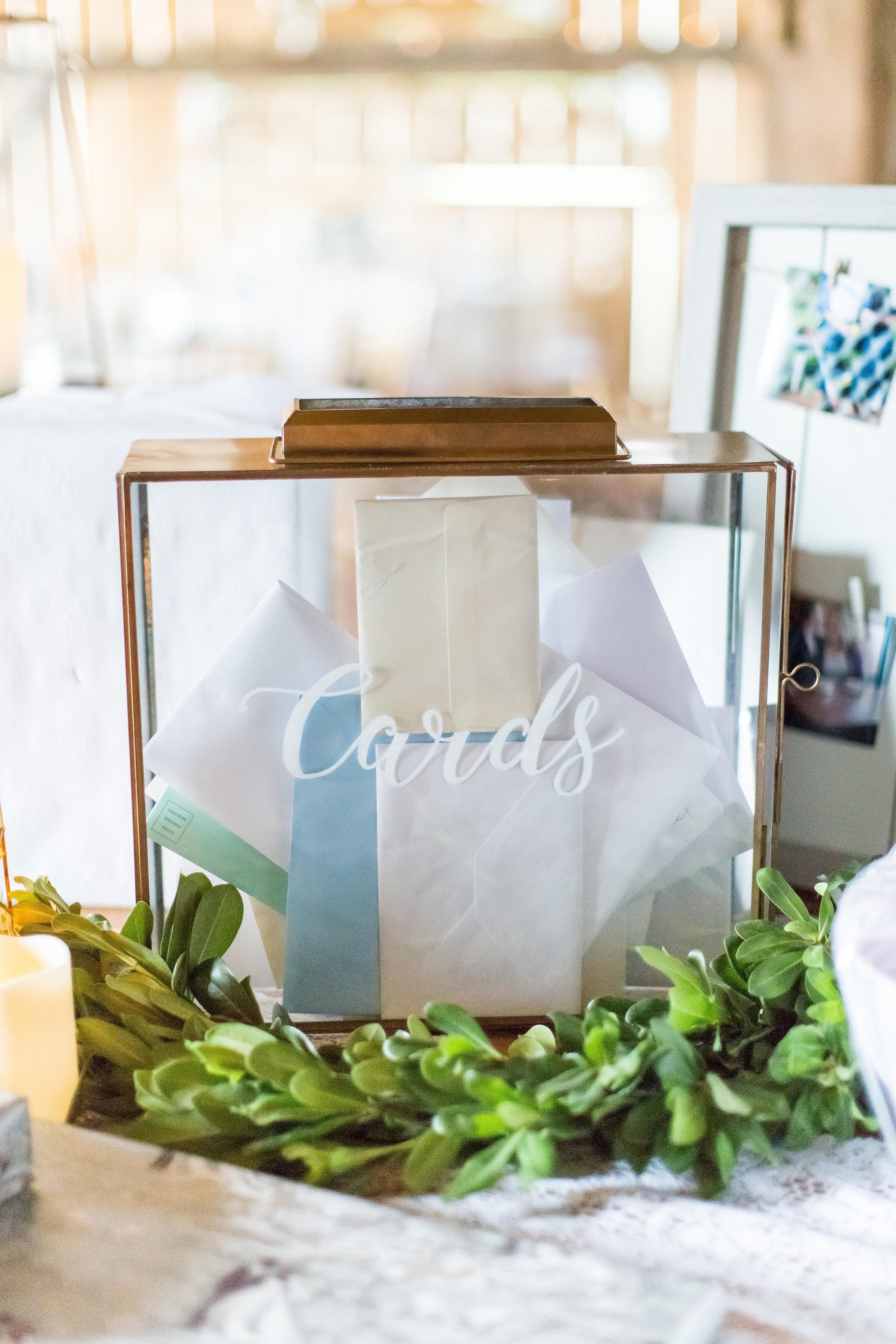Glass & Copper card box $40