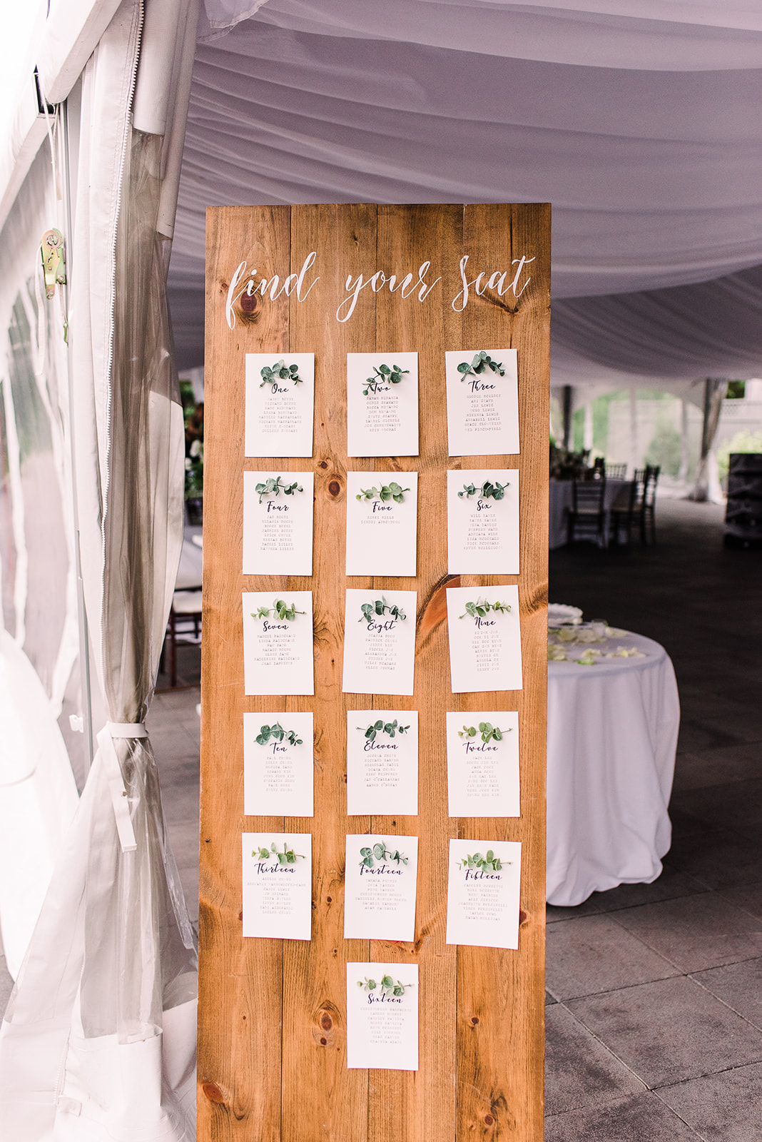 Wooden Seating Chart $50
