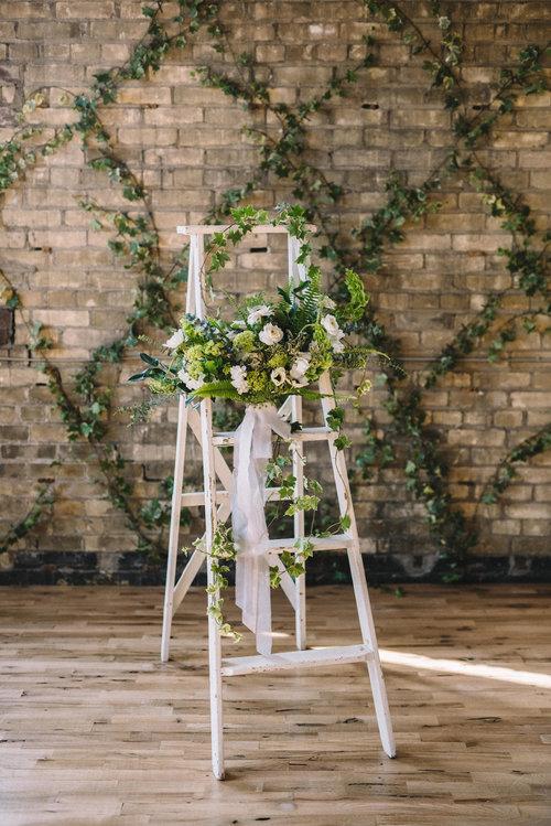 White Wood Ladder $10