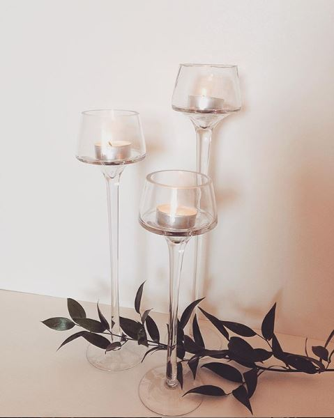 Set of 3 Glass Candle Holders $10 (3)