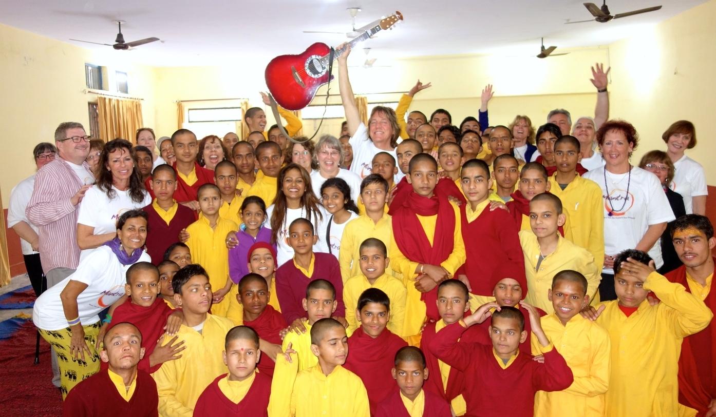 The Ashram School for monks in training.