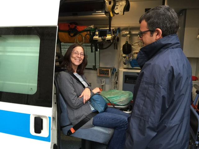 Sister Karen in the Ambulance