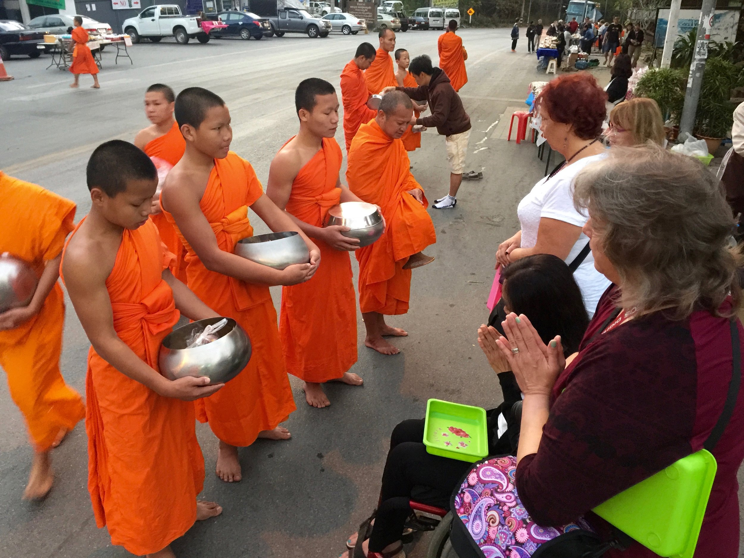 Feed The Monks (Ancient Thai-Buddhist Tradition)