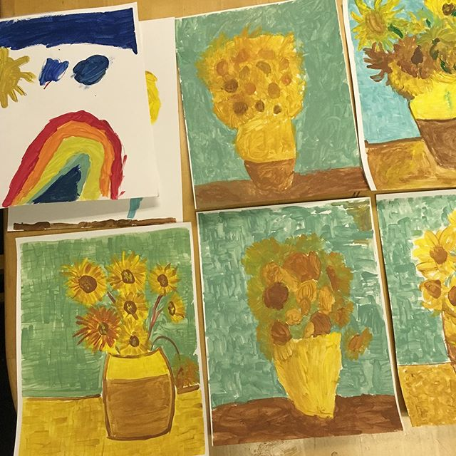 """The more I see, the less I know for sure."" John Lennon #crafttime #vangogh #learntherulestobreaktherules #dontpanicbecreative"