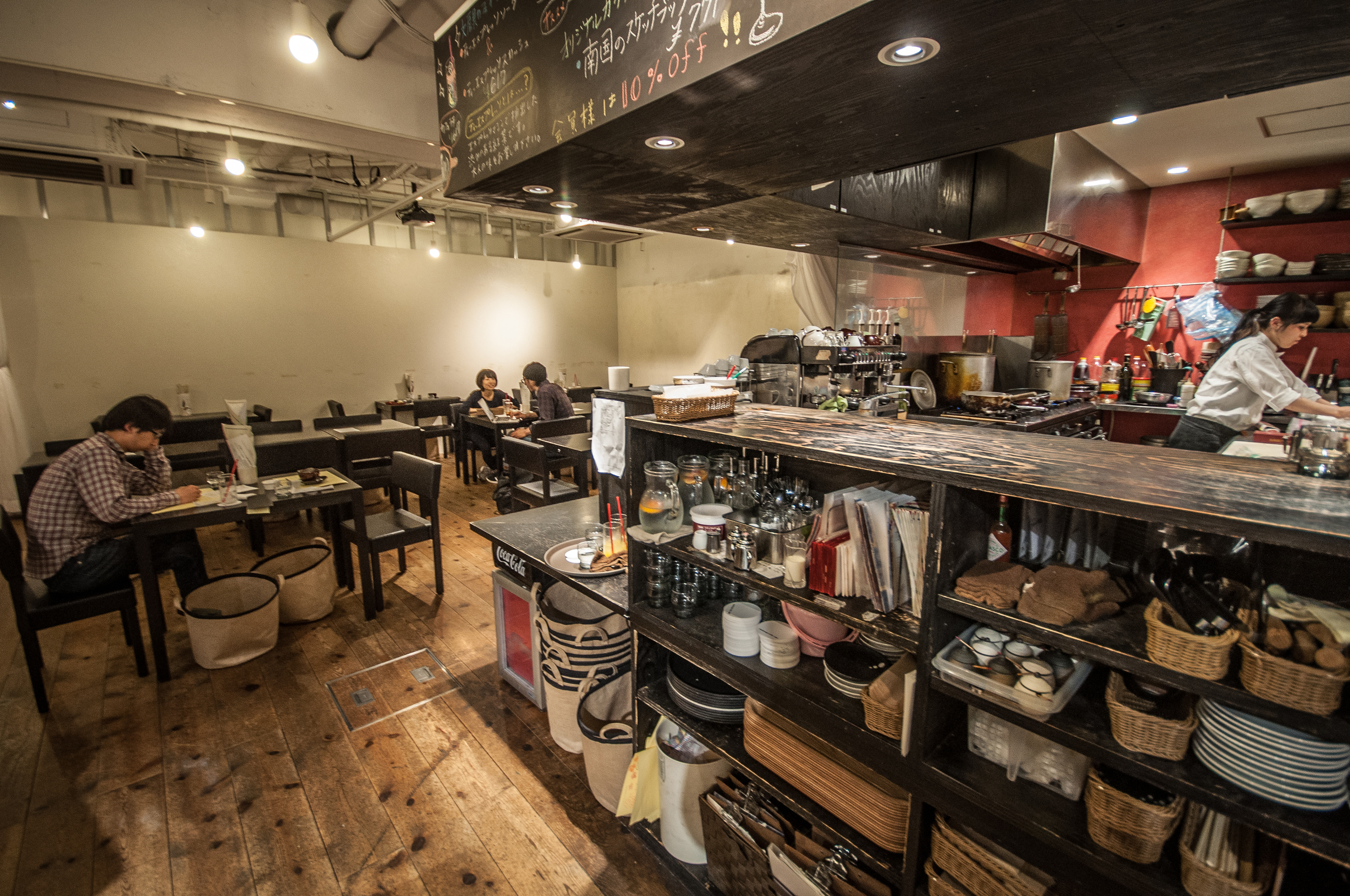 A stationery cafe somewhere near Omotesando.